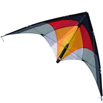 CIM Lenkdrachen – 1-2-SEVEN Hot – Drachen für Kinder ab 8 Jahren, fliegt in einem extrem großen Windbereich – Abmessung: 104x52cm – inkl. Steuerleinen mit Gurtschlaufen