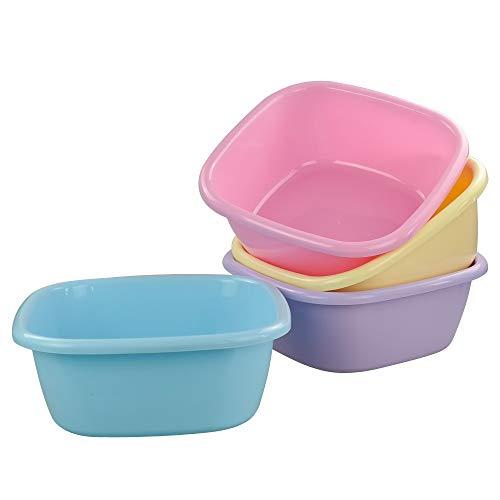 Gitany Waskom, Plastic Waskommen, Vierkant, 4 Kleuren Wastafel Kom