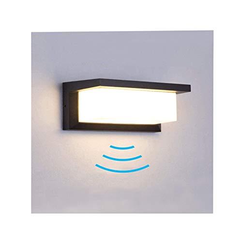 Wandleuchte mit Bewegungsmelder, 18W Bewegungsmelder Aussen Wasserdicht IP65 LED Wandlampe Warmweiß Wandleuchte Innen/Aussen für Wohnzimmer Schlafzimmer Treppenhaus Flur