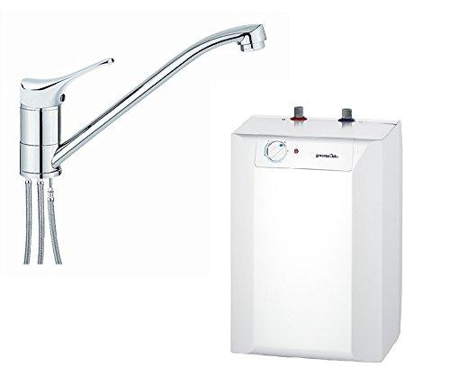 respekta Gorenje Boiler Warmwasserspeicher Untertisch 10 Liter mit Armatur EKW 10 U + Qmix 700 Set