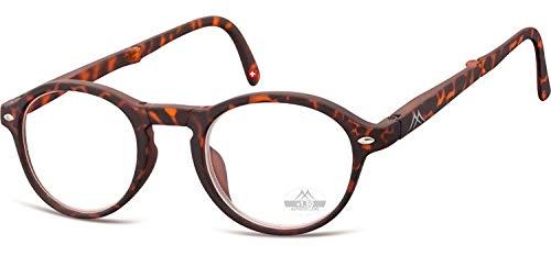 Montana opvouwbare leesbril matbruine sterkte +1,00 (box66a)