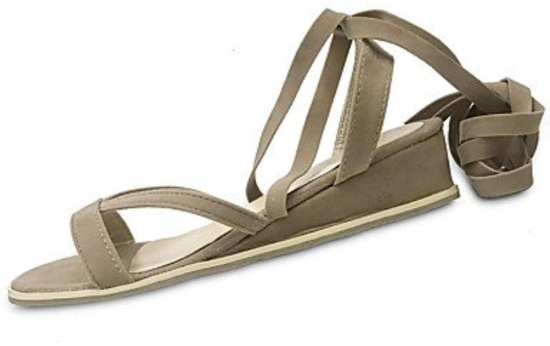 Women 039 s Sandals Summer Slingback PU Casual Wedge Heel Buckle Walking