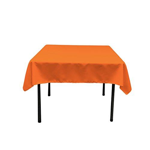 La Lino poliéster popelín Mantel Cuadrado, poliéster, Naranja, 132 x 132 x 0.04 cm