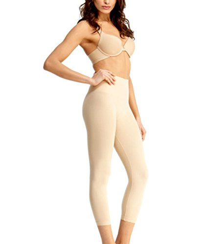 SlimMe High-Waist Control Shapewear Leggings Nude Large
