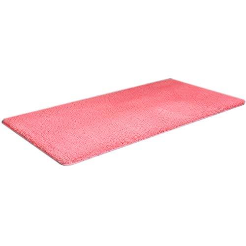 GHGMM Teppich Fußmatten, Haushalt rutschfest weich Teppich, Passend für Schlafzimmer Wohnzimmer Erkerfenster Sofa, anpassbar,pink,100 * 200cm