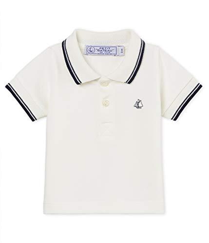 Petit Bateau Beau Polo, Blanc (Marshmallow 03), Nouveau-né (Taille Fabricant: 12 Mois) Bébé garçon