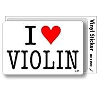 ILBT-166 アイラブステッカー I love VIOLIN (バイオリン) ステッカー