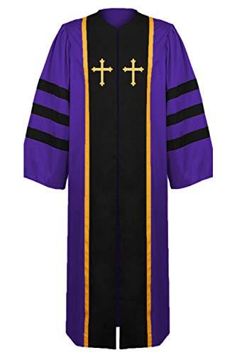 Haydory - Disfraz de monje medieval para hombre, diseño de clero cristiano, púlpito, manta, color morado