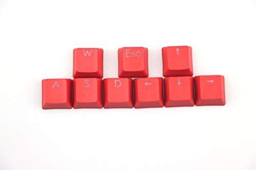 YEZIO Keycaps für Keyboards 9Pcs / Satz Beleuchtung Keycaps for Schalter mechanische Tastatur Universal (Color : Red)