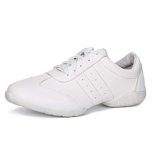 HROYL Baskets de Danse Gym Hip Hop Jazz Chaussures de Sport Chaussures de Course Sport,YMJ6511,Blanc-PM-3,EU37