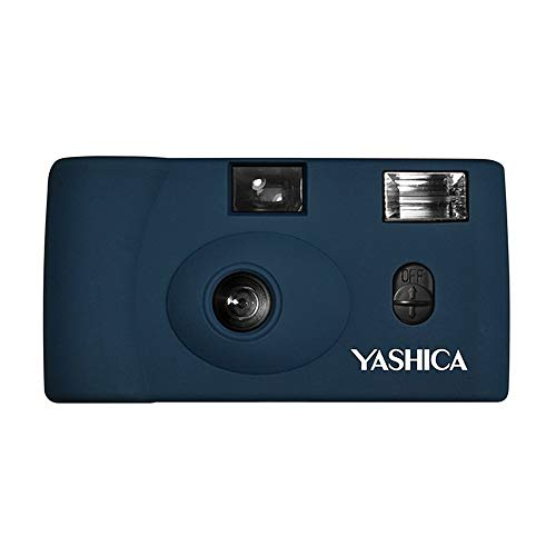 Yashica MF-1 Snapshot Art 35mm Film Camera Set (Prussian Blue)
