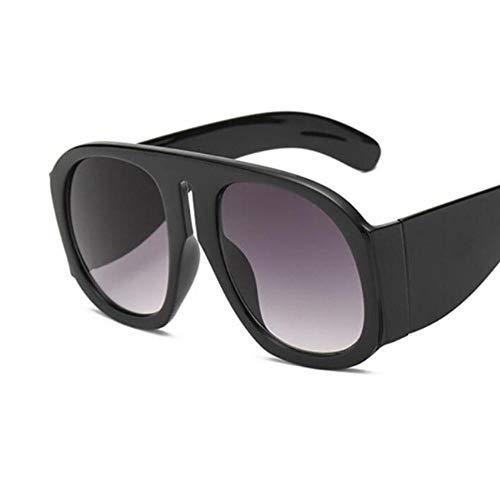 Preisvergleich Produktbild SIMINGSHUAI Sonnenbrille Large Frame Brille Vintage Black Shades Brille Brillenglas Breite 62mm Glashöhe 65mm