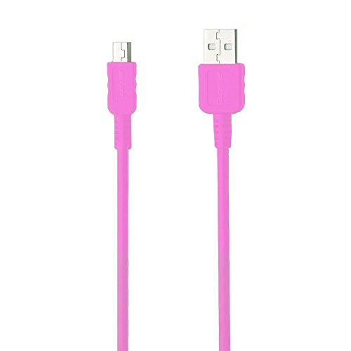 Guerrilla USB Cable for TI 84 Plus, TI 84 Plus C Silver Edition, TI 89 Titanium, TI Nspire CX & CX CAS graphing calculators, Pink