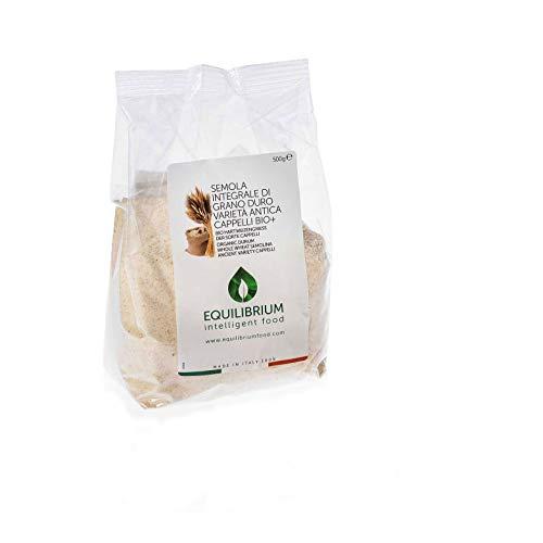 Semoule intégrale de blé dur biologique │ Semoule de intégrale de blé dur ancien variété Cappelli │Paquet de 500 g│ Semoule intégrale de blé dur BIO+