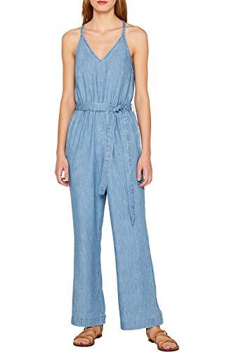 edc by ESPRIT Damen 059Cc1L002 Jumpsuit, Blau (Blue Light Wash 903), X-Small