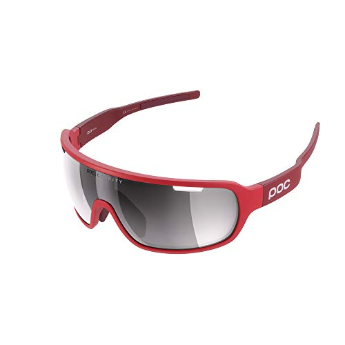 POC Do Blade Raceday Sunglasses Cubane Blue Light Blue/Electric Mirror, One Size - Men's