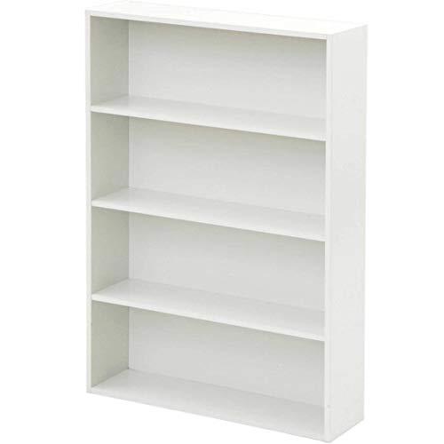 [山善] 本棚 コミック収納ラック 4段 幅60×奥行17×高さ89cm 耐荷重50kg ホワイト CMCR-9060(WH)