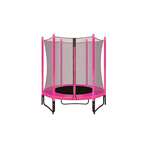 ATAA Cama elástica Infantil 140 Plus - Rosa Trampolín Ideal para niños con una Zona de Salto de 140 centímetros, Red de Seguridad y Almohadillas de protección.