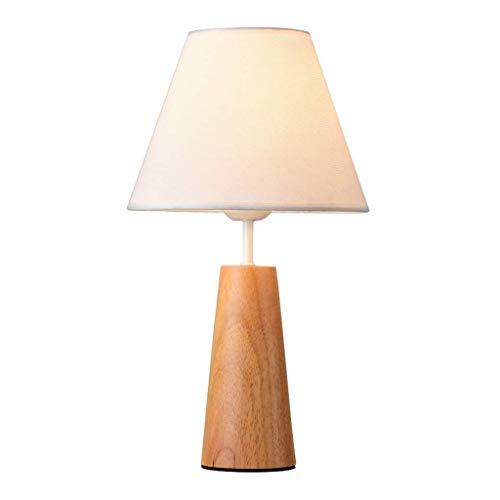 Lámparas de escritorio Mesita de noche Lámparas cono de madera, lámparas de mesita con pantalla de tela simple lámpara lámparas de escritorio for habitaciones chicas de la oficina sitio del dormitorio