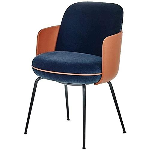 LYXCM Silla de Comedor Moderna, sillas Decorativas tapizadas de Terciopelo de Lujo con Respaldo Sillón de Ocio Silla para Cocina Comedor Sala de Estar