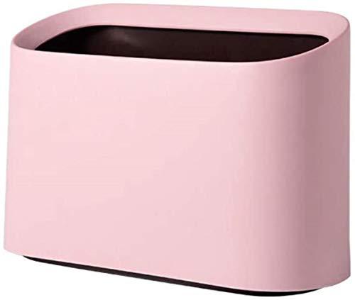Desktop mini prullenbak, compact en mooi garbage collector, kan in de slaapkamer, bed en poeder kamer, Pink, 2PCS worden geplaatst