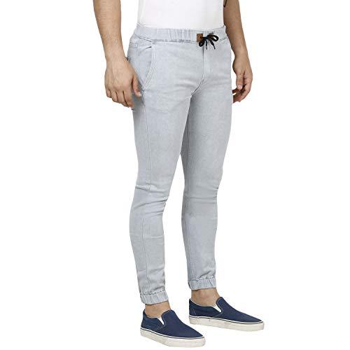 Urbano Fashion Men's Slim Fit Joggers (hpsjogger-wgrey-34_Grey_34)