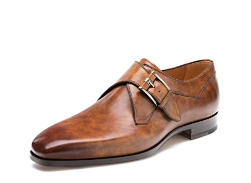 Magnanni Hayden Tabaco Men's Monk Strap Shoes Size 9 US