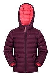 Mountain Warehouse Seasons Gepolsterte Jacke für Kinder, geeignet für alle Jahreszeiten - wasserdichte Winterjacke, leicht & warm Beerenton 9-10 Jahre