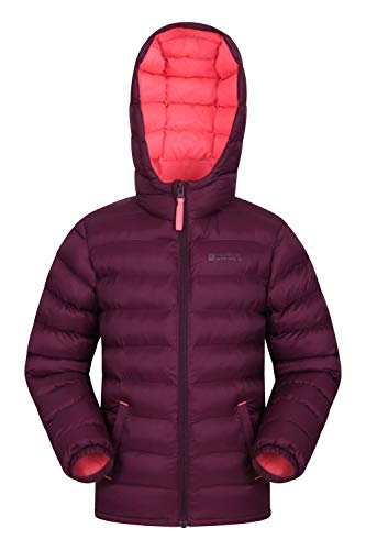 Mountain Warehouse Seasons Gepolsterte Jacke für Kinder, geeignet für alle Jahreszeiten - wasserdichte Winterjacke, leicht & warm Beerenton 128 (7-8 Jahre)