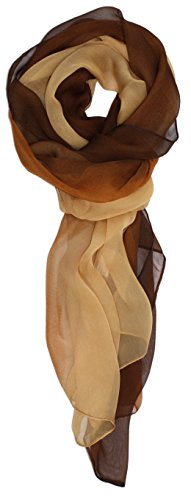 Ted and Jack - Silk Ombre Lightweight Accent Scarf (Beige and Brown)