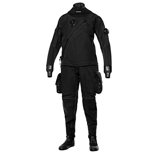 Bare X-Mission Evolution - Traje de buceo seco para hombre, color negro, talla L