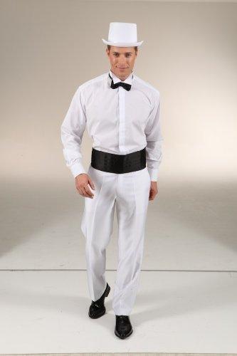 Frackhemd m. Stehkragen weiß, Größe:52-54