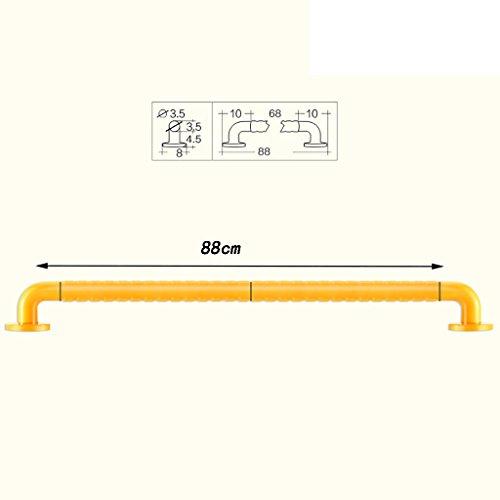 Zfggd Gelbes Edelstahl-Anti-Rutsch-Duschhandlauf, Duschwannen-Barrierefreies älteres Balancen-Griff-leuchtendes Warnlicht (größe : 88cm)
