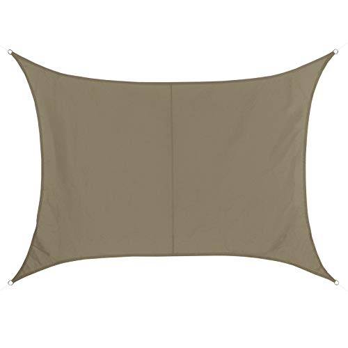 BB Sport Voile D'ombrage Rectangulaire 2m x 3.5m Cappuccino 100% Polyester [PES] Taud Soleil Protection des Rayons UV 30+ Voile Solaire