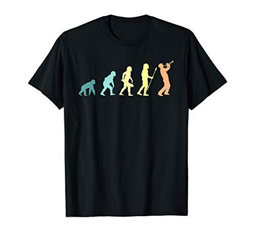 Evolution Trompeter Vintage Trompete Retro Geschenk Musik T-Shirt