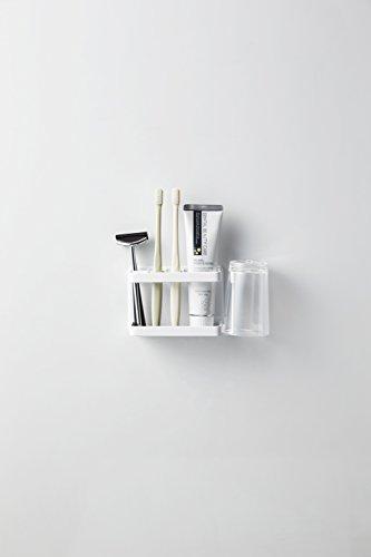 山崎実業マグネット歯ブラシスタンド歯ブラシホルダーバスルームトゥースブラシスタンドタワーホワイト約W13.5XD5XH8.5cmtower3807