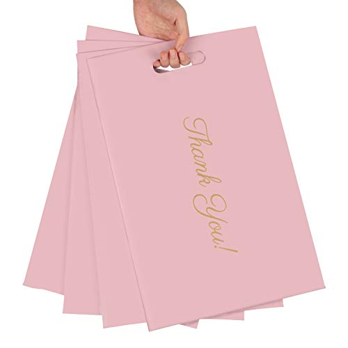 Poly Mailers 10x13 Thank You Shipping Bags 50 Pack Pink Mailers Poly Bags with Handle for Clothing, Eco-Friendly Mailers Envelopes Thank You Mailing Bags For Business Heavy Duty Self Seal
