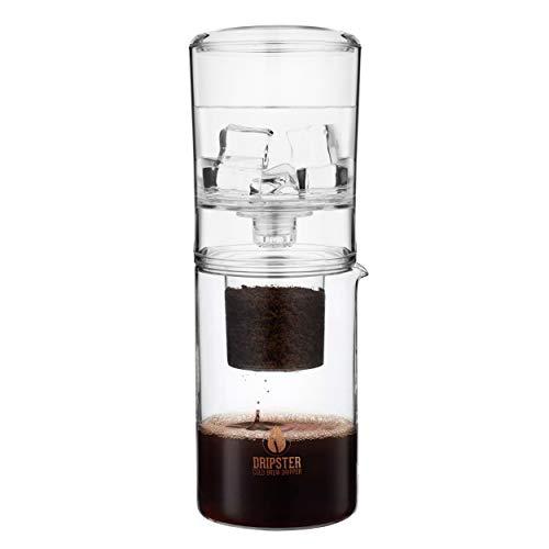 DRIPSTER 2-in-1 Cold Brew Dripper (4 Tassen / 600ml), Cold Brew Maker für kaltgebrühten Kaffee und Tee