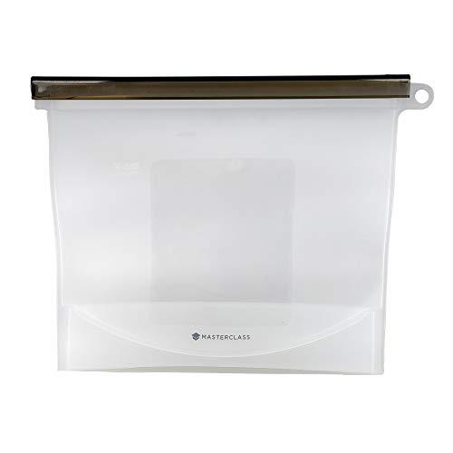 MasterClass Bolsa de Comida Hermética Reutilizable de Silicona Libre de BPA 1.5L