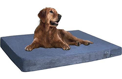 Dogbed4less Orthopedic Gel Cooling Memory Foam Dog Bed for Pet