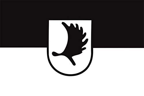 Buddel-Bini Flagge Fahne ca. 90x150 cm : Ostpreussen Elchschaufel