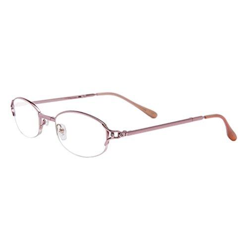 Zhhlinyuan Lesebrille Damen Fashion Randlos Ladies Reading Glasses Magnification Comfort for Women 1.0 1.5 2.0 2.50 3.00 3.50 4.00 Strength