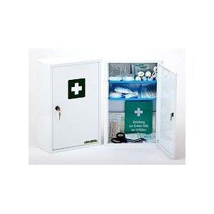 *Erste Hilfe Schrank abschließbar mit Füllung nach DIN 13157*