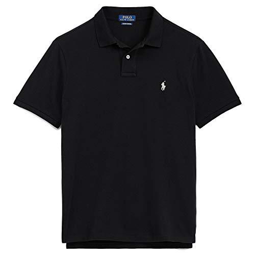 Polo Ralph Lauren, Herren, maßgeschneidertes Slim-Fit-Poloshirt aus Piqué -  Schwarz -  XX-Large