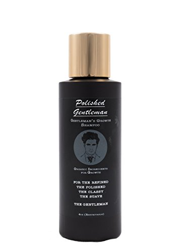 Polished Gentleman Hair Growth Shampoo For Men - Best Hair Products to Regrow Hair - With Biotin and Tea Tree - To Grow Hair Fast and Stimulate Hair Regrowth - Stop Hair Loss - Organic and Natural