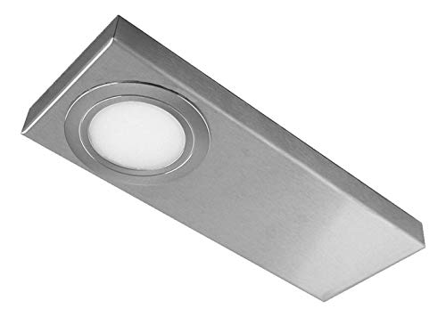 Evotec TAIN-CF CS LED Unterbauleuchte, 3er-Set / 3000|4000K / 3x3|4W / 3x300|400 Lumen/ColorSwitch, Aluminium, 12 W, Transparent, Small