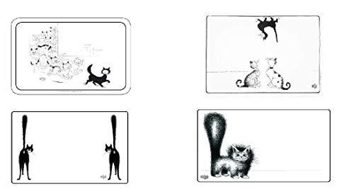 Editions Clouet – Juego de 4 manteles individuales de mesa con diseño...