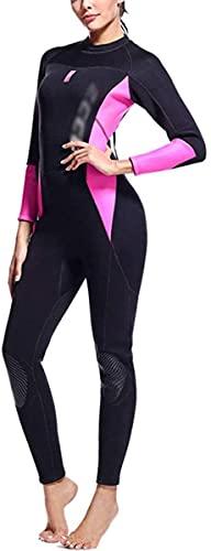 Mute umide KKY-Enter. Immersione da Immersioni Femmina 3MM. Swimsuit da Snorkeling di Snorkeling di Snorkeling a Maniche Lunghe (Color : Black Powder, Size : S)