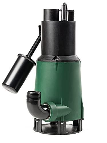DAB Pompe submersible avec flotteur pour drainage des eaux usées à usage domestique, 0,55 kW/0,75 HP, monophasé avec arbre, pompe en acier inoxydable spécial, modèle Feka 600 M-A SV (103002774)
