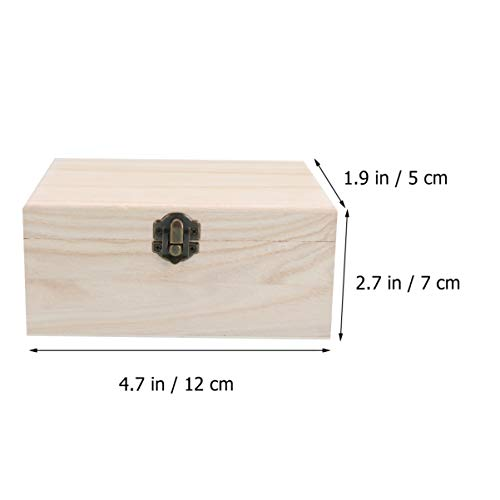 Artibetter 3 Piezas Caja de Artesanía de Madera sin